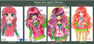 Draw this again meme! by Liizzieh-Koi