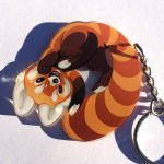 Keychain Redpanda Clear Front2 by Mewitti