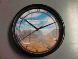 Black Mesa Research Facility clock by ChrisInVT