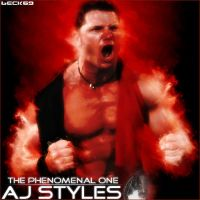 Aj Styles on Fire by beck69
