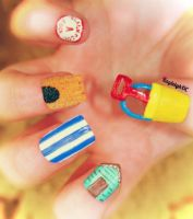 Seaside Nail Art by KayleighOC