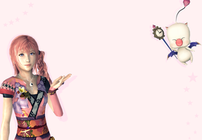 Serah and Mog by Serah-Lightning