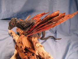 Drogon Daenerys Commission Dragon Sculpture View 2 by RavendarkCreations