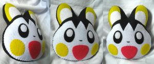 Emolga Pillow Plush by P-isfor-Plushes