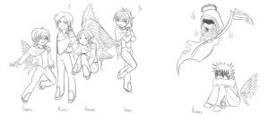 Flock of Angels by sleepyoldvamp