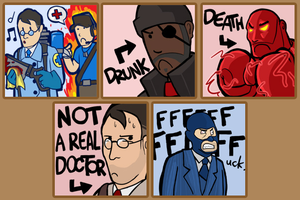 Team Fortress 2 Steam avatars by Boltstriker