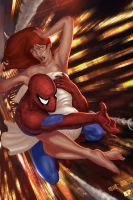 Spidey,MJ by Memed