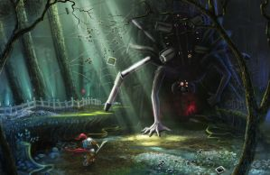 Into the Lair of the Memory Monger by smallsketch