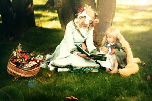 hetalia: France and England by Amapolchen