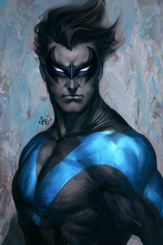 Quick Nightwing by Artgerm