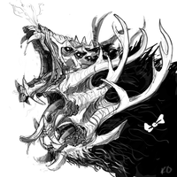 Triple Maw Thing by is-chimera