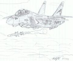 F-14 Tomcat Fox One by NDTwoFives