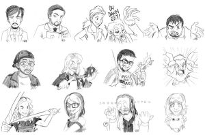 ThatGuyWithTheGlasses Sketches Vol.1 by MSipher