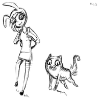 Fionna and Cake- Sketch O,O by KlalaskaXD