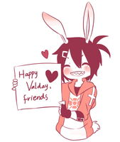 Happy Valday, Friends by Skunkyfly