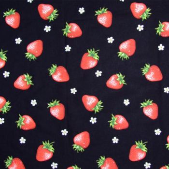 Strawberry dots black Ipad by Yvette-chan