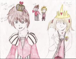 The King and Queen of Hearts by TrinityKarose