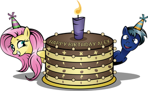 Happy Birthday AlexLoneWolfMLP by saturdaymorningproj