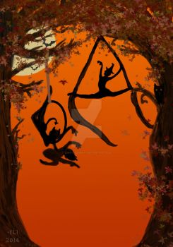 Quickie Halloween Poster for Aerial Class by LuckyElement7