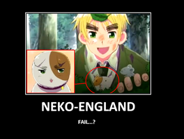 [APH] Neko-England motivational poster by Tekkenka