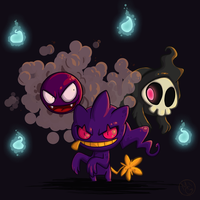 Ghostly and Ghastly by tea-tiger