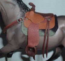 Miniature Western Saddle by NocturnalEquine