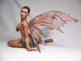 Zuri  ooak polymer clay fairy by AmandaKathryn