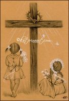 Flowers for Jesus by Katerina-Art