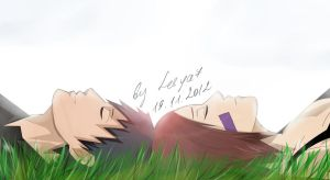 Obito x Rin: Take a rest by Lesya7