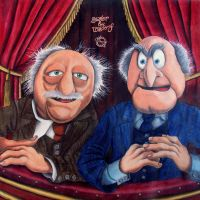 Statler and Waldorf by chiel1