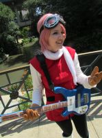 Haruko laughing it up by AmberTheBlackSheep