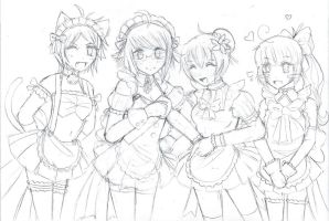 Maid Cafe 2 (Dating Sim?) by AbbyChanFTW