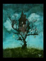 lonely tree house by FreakZone13