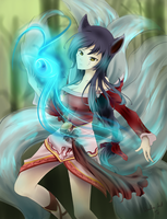 ::League of Legends:: Ahri, the Nine Tailed Fox by artsy-akalei