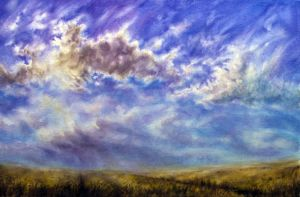 Watercolor - Wheat Fields by Wolf-Smith