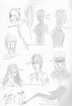 Creepypasta OC Doodles by randomdrawerchic