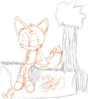 tails relaxing sketch by The-Great-Bunbutchi