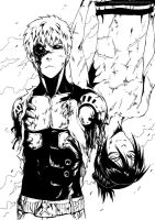 ONEPUNCH-MAN: Genos and Sonic SPOILER by Sideburn004
