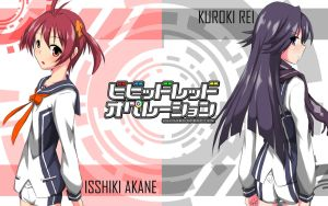 Vividred Operation: Isshiki Akane and Kuroki Rei by adekrifki