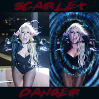 Scarlet Danger IS Black Canary By JY-KO-X by zenx007