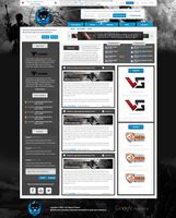 Gaming layout. by trkwebdesign