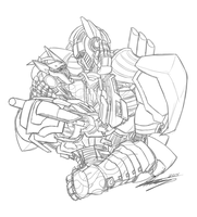 (Commission) Causeway + Optimus Prime by SHArtII