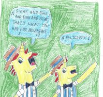 The Flim Flam Brothers (My Little Pony) by dth1971