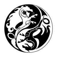 Ying Yang Dragons by darkbear