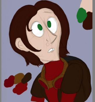 Dover Demon Portrait flats by BeanSkelly
