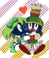 Marvin the Martian and Martian Serena Greenland by yyyei