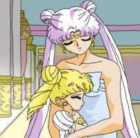 Queen Serenity and Princess Serenity by RavenclawGirl29