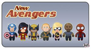 New Avengers print version by alexsantalo