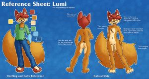 Lumi Reference Sheet by LumiSquirrel