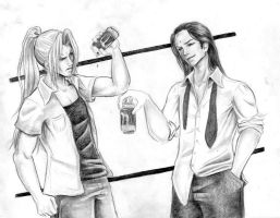 Sephiroth and Tseng by KitDesertOfFate27